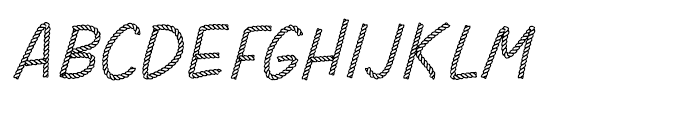 Rodeo Rope Headline Font UPPERCASE