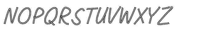 Rodeo Rope Headline Font LOWERCASE