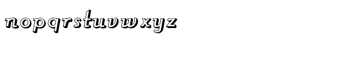 Roller Shadow Font LOWERCASE