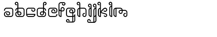Rollover Outline Font UPPERCASE