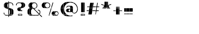 Romero Heavy Technique Font OTHER CHARS