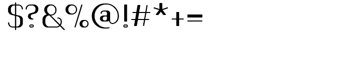 Romero Regular Font OTHER CHARS