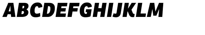 Ronnia Heavy Italic Font UPPERCASE