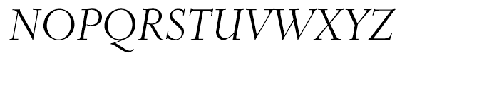 Roos Display Italic Font UPPERCASE