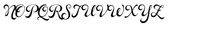 Rosarian Regular Font UPPERCASE