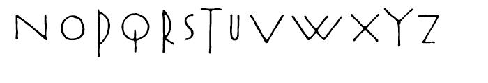 Rouge Regular Font UPPERCASE