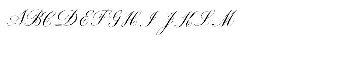 Roundhand Regular Font UPPERCASE