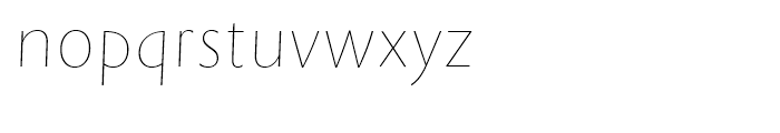 Rowton Sans FY Hair Italic Font LOWERCASE