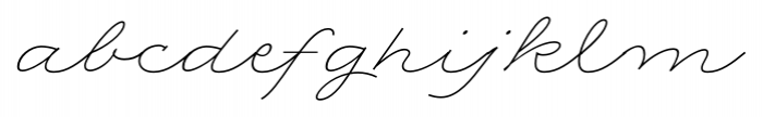 Rolling Pen Complete Font LOWERCASE