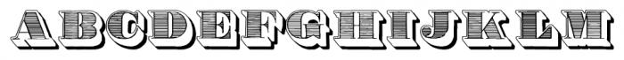 Roman Ornamented Negative Font UPPERCASE