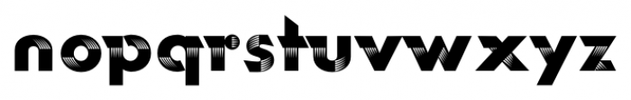 Rotor FastA Font LOWERCASE
