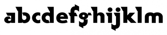 Rotor FastB Font LOWERCASE