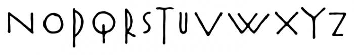 Rouge Bold Font UPPERCASE