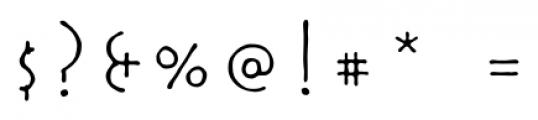 Rouge Regular Font OTHER CHARS