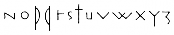 Rouge Regular Font LOWERCASE