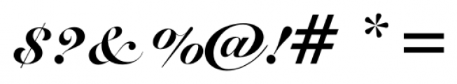 Roundhand BT Black Font OTHER CHARS
