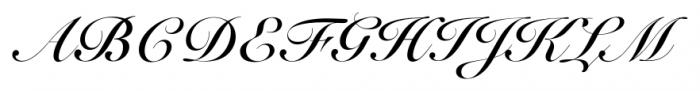 Roundhand BT Bold Font UPPERCASE