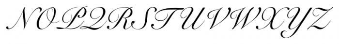 Roundhand BT Regular Font UPPERCASE