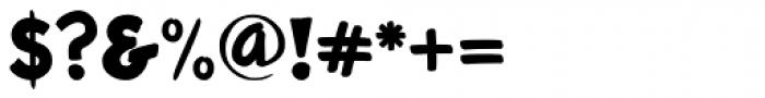 Roadbrush Font OTHER CHARS