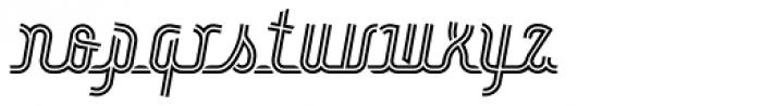 Roadline Neon OT Italic Font LOWERCASE