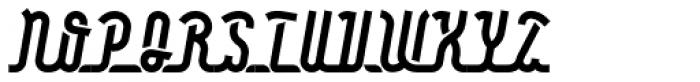Roadline OT Italic Font UPPERCASE