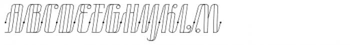 Roadster Script Line Dot Italic Font UPPERCASE