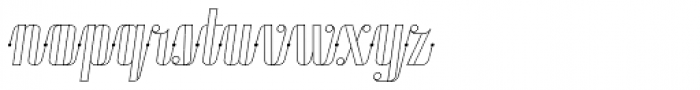 Roadster Script Line Dot Italic Font LOWERCASE