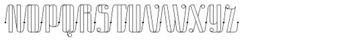 Roadster Script Line Dot Font UPPERCASE