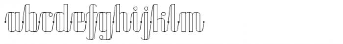 Roadster Script Line Dot Font LOWERCASE