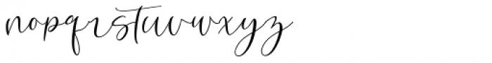 Robert Hunster Regular Font LOWERCASE