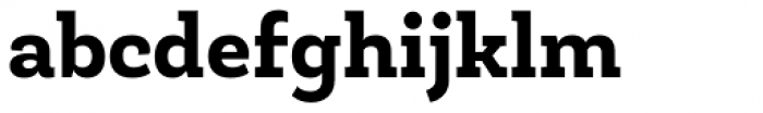 Roble ExtraBold Font LOWERCASE