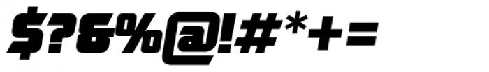 Robofan Black Italic Font OTHER CHARS