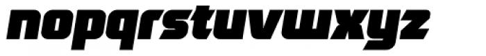Robofan Black Italic Font LOWERCASE