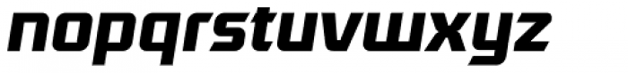Robofan Bold Italic Font LOWERCASE