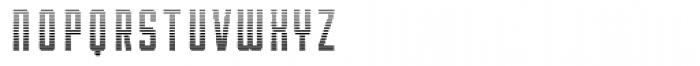 Robolt X Machine Bar Font LOWERCASE