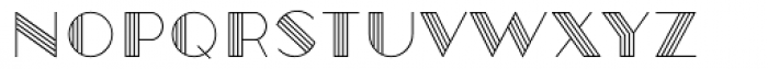 Robolt X Vintage Line Font UPPERCASE