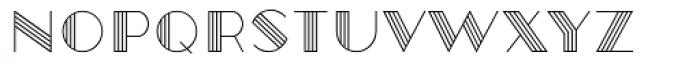 Robolt X Vintage Line Font LOWERCASE