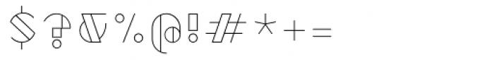 Robolt X Vintage Outline Font OTHER CHARS