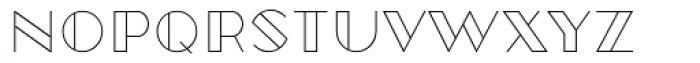 Robolt X Vintage Outline Font LOWERCASE