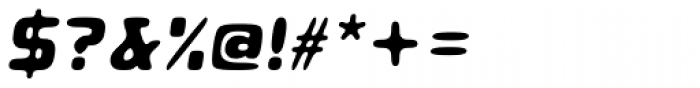 Roboo 4F Bold Italic Font OTHER CHARS