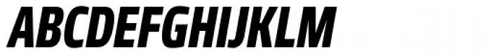 Robusta Cond Heavy Italic Font UPPERCASE