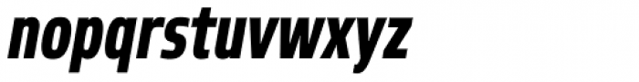 Robusta Cond Heavy Italic Font LOWERCASE