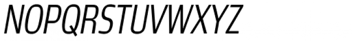 Robusta Cond Light Italic Font UPPERCASE