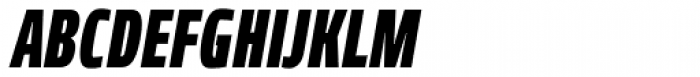Robusta XCond Black Italic Font UPPERCASE