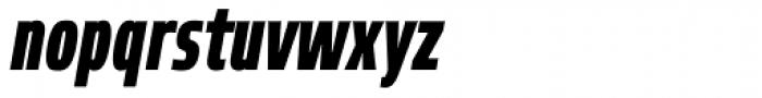 Robusta XCond Black Italic Font LOWERCASE