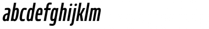 Robusta XCond Medium Italic Font LOWERCASE