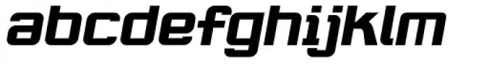 Robustik Bold Oblique Font LOWERCASE