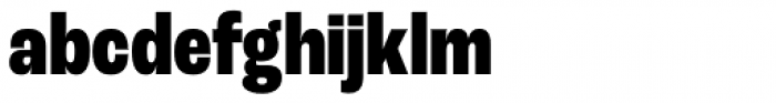 Roc Grotesk Condensed Extra Bold Font LOWERCASE