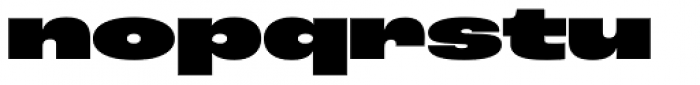 Roc Grotesk Extra Wide Heavy Font LOWERCASE