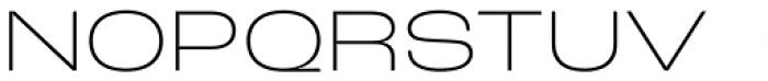 Roc Grotesk Wide Extra Light Font UPPERCASE
